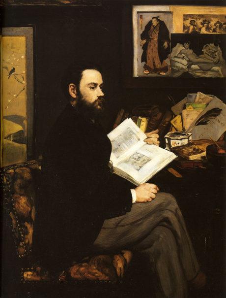 Manet Edouard Portrait of Emile Zola