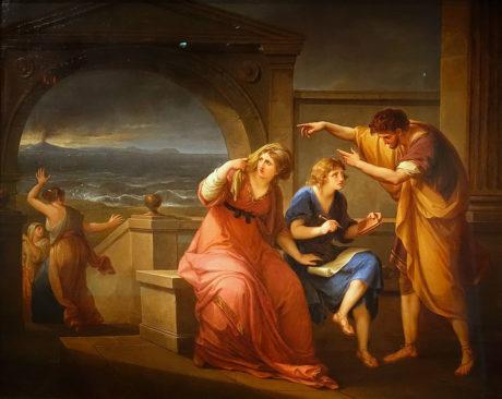 Pline le jeune et sa mère à Misenum Angelica Kauffmann, 1785 Musée d'Art de l'université de Princeton