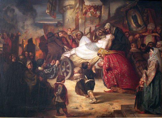 1280px 1851 Junge Hexe zum Scheiterhaufen geführt anagoria