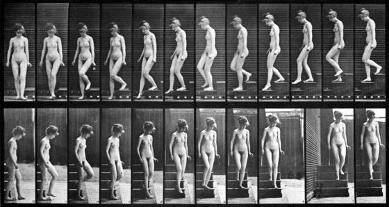 Femme descendant des escaliers (1887) Détails