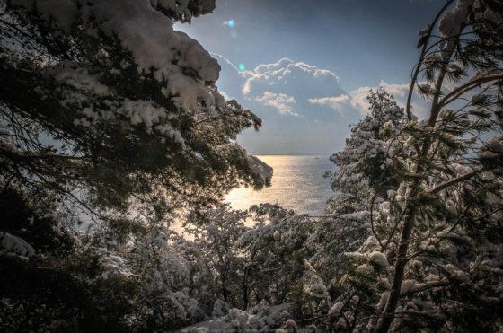 Neige à la mine de Cap Garonne - 83220 Le Pradet France