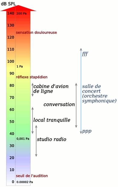 Niveaux sonores - Illustration PolBr